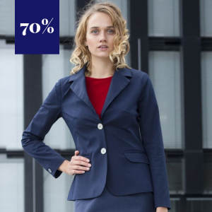 Sehr eleganter, klassischer, blauer Blazer aus reiner Baumwolle mit edlem Innenfutter von Haye.