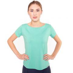 hellgrünes Shirt mit extra weitem Rundhals Ausschnitt aus hochwertiger, blickdichter Viskose von Haye Fashion Hamburg