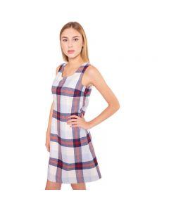 Kariertes Träger Kleid, körperbetont aus weicher Baumwolle mit edlem Innenfutter von haye